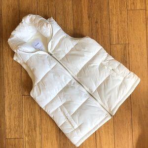 NWOT OLD NAVY puffy white vest